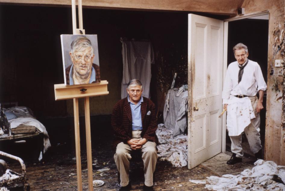 Couverture-Lucian Freud et son modèle (David Hockney)